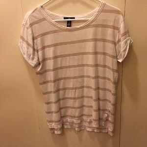 XS Gap striped gold and white shirt